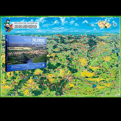 Znojemsko z nebe a malovaná mapa Brněnsko
