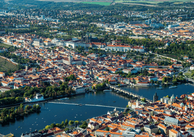 Praha - ukázka z knihy 101+101 leteckých pohledů na Česko a Slovensko