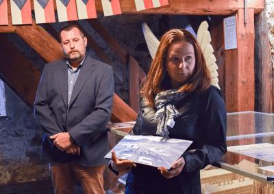 Blanka Imramovská a Michal Andráško hovoří o vzniku knihy Pelhřimovsko z nebe
