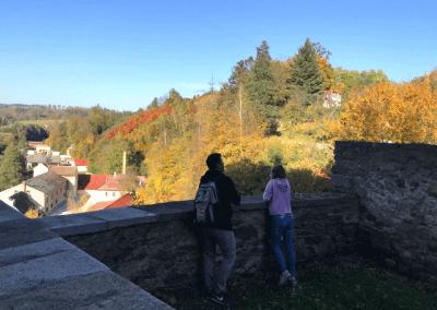 Podzimní pohled z hradu