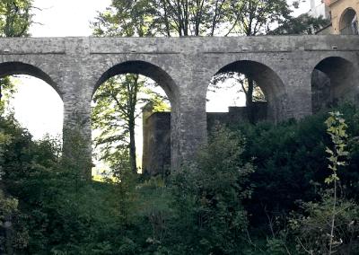 hrad Ledeč nad Sázavou - Opravený historický most