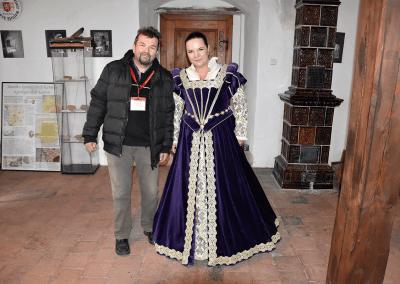 Předseda Spolku přátel hradu Lukova Ing. Jiří Holík a starostka obce Kurovice Mgr. Lenka Koutná