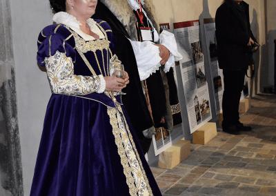 Hradní paní, starostka Kurovic Lenka Koutná a hradní pán Martin Malina