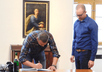 Křest knihy Domažlicko z nebe - Josef Nejdl a Jaromír Vonka