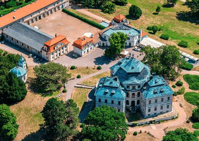 Zámek Karlova Koruna, Chlumec nad Cidlinou - ukázka z připravované knihy leteckých fotografií KRÁLOVÉHRADECKO Z NEBE