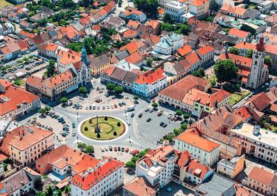 Nový Bydžov - ukázka z připravované knihy leteckých fotografií KRÁLOVÉHRADECKO Z NEBE