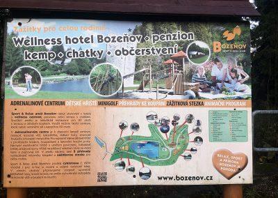 Plán areálu Bozeňov