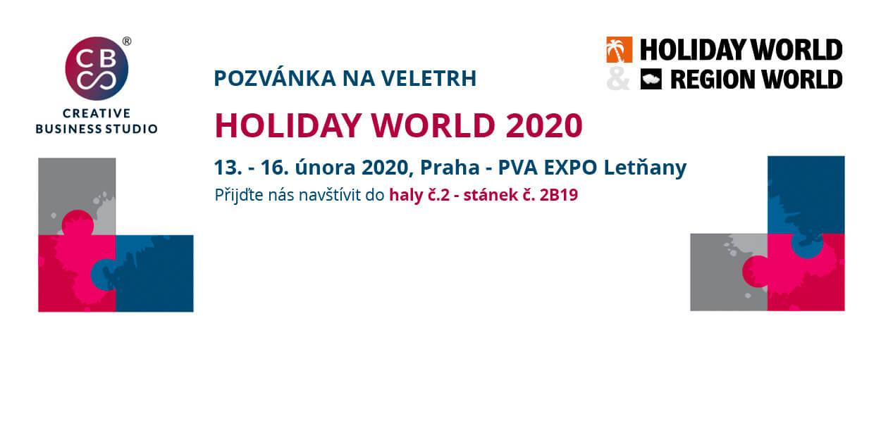 Pozvánka na veletrh HOLIDAY WORLD 2020