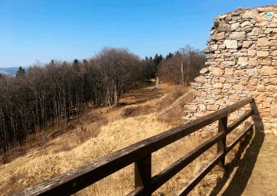 Zubštejn - dřevěný most