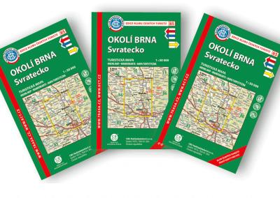 Turistická mapa KČT okolí Brna – Svratecko