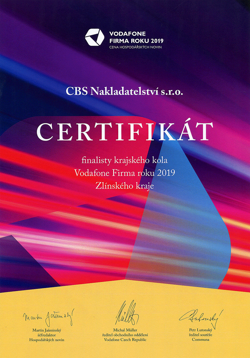 Certifikát Firma roku
