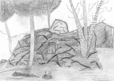 Malovaná cyklomapa Kladensko dětem - ukázky maleb