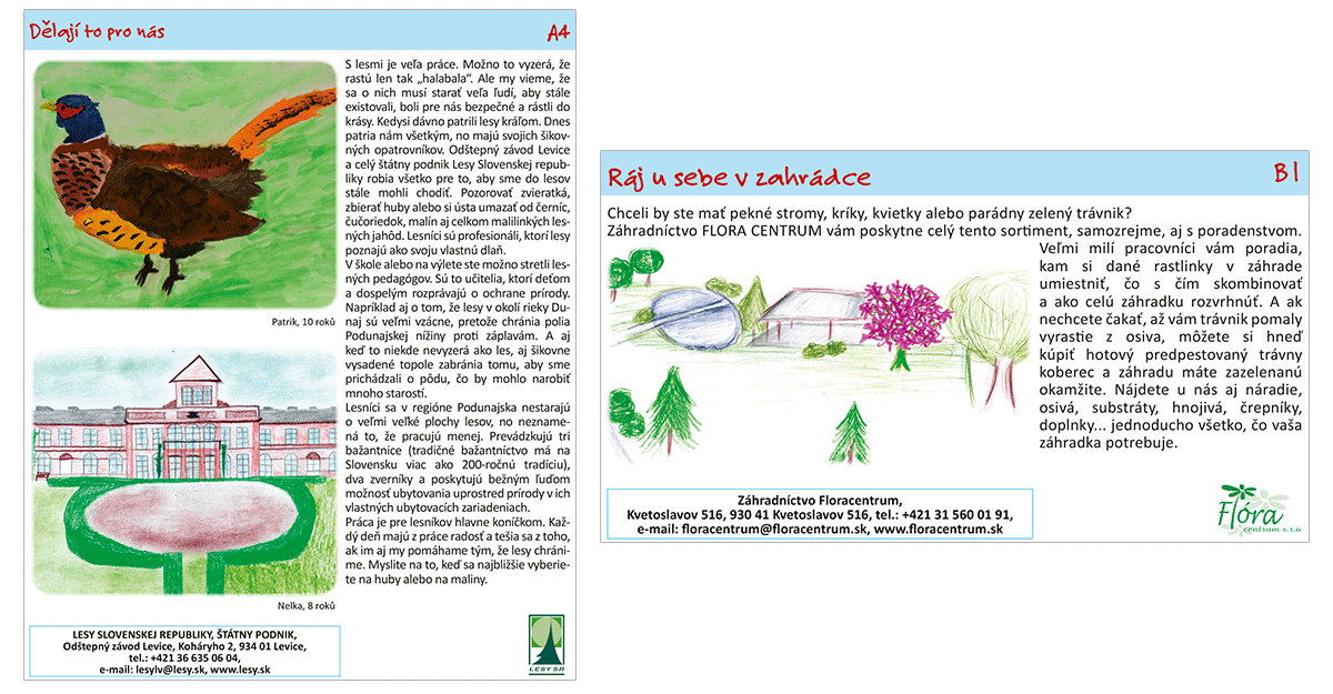 Malovaná cyklomapa Kladensko dětem - ukázka prezentací