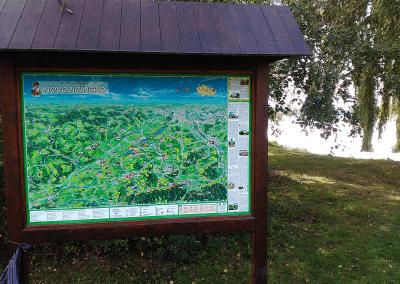 Malovaná mapa Novojičínska - Albrechtičky od Viery Kovářové