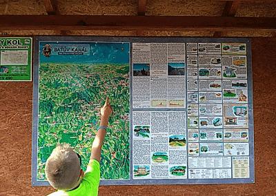 Malovaná mapa Baťův kanál v Otrokovicích od Viery Kovářové