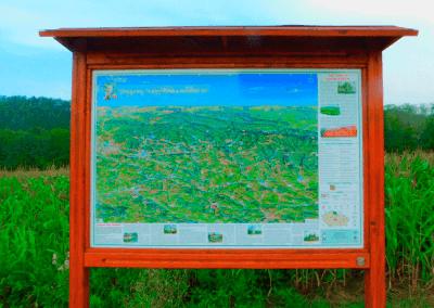 Malovaná mapa Mírové pod Kozákovem od Ivy Krupové