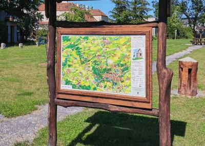 Malovaná mapa z obce Kačic od paní Jany