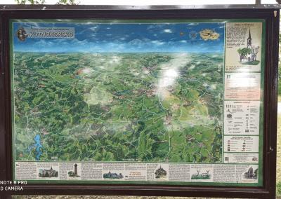 Malovaná mapa Kutnohorska od pana Miroslava