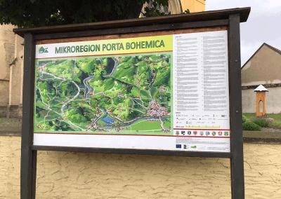 Malovaná mapa Porta Bohemica od paní Jany