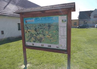 Malovaná mapa Znojemska v Onšově od Viery Kovářové