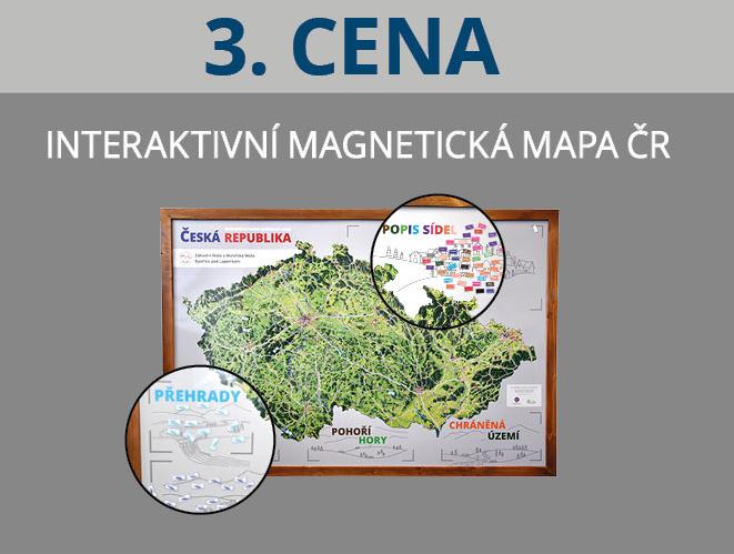 Malovaná magnetická mapa ČR